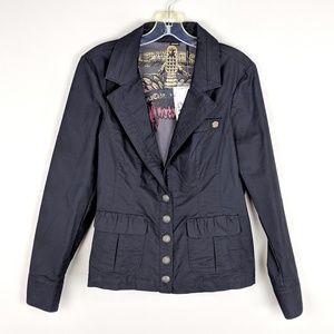 Guess | Black Button Down Vintage Jacket
